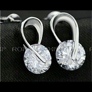 Jewelry - 🆕Sterling Silver and CZ Earrings